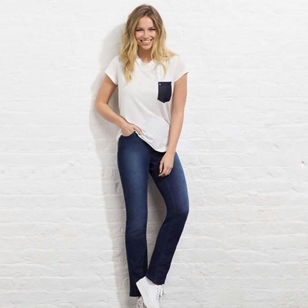 Avon femme Blanc uni T Shirts Tops avec poche Détail Taille 10 12