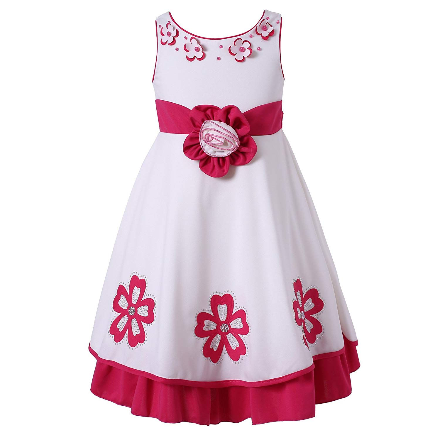 Richie House Kids Girls Party Princess Fancy Dress Up Costumes Flower Age 3-9