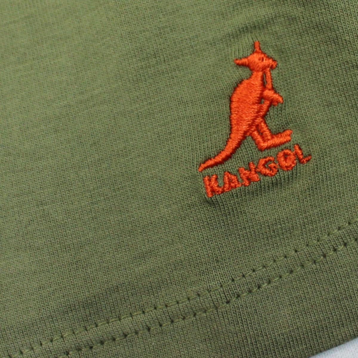 KANGOL Girls T Shirt 2-3 3-4 Years Khaki Green Short Sleeve Top Lightning Strike