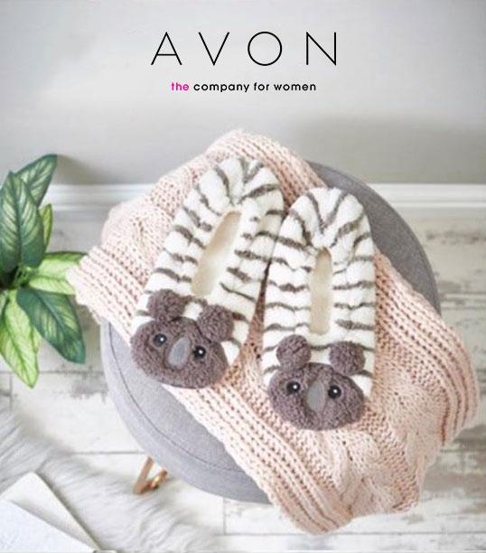 AVON Ladies Womens Novelty Koala Bear Slippers Socks Slip-On Size 5 6 7 8 |  eBay