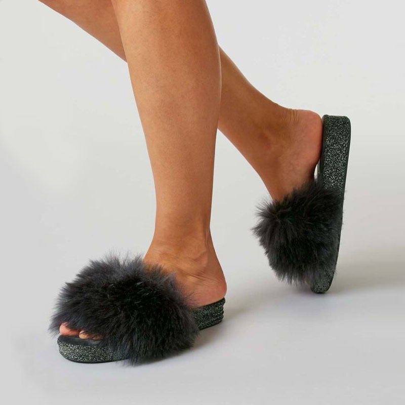 Women`s//Ladies Leather Slippers 100/% Natural Leather size:UK 3,4,5,6,7,8