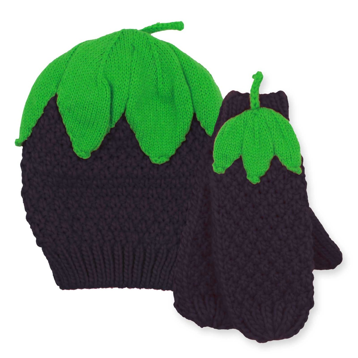 ddc36fdce5bf4 Boys Girls Kids Fruit Hat And Gloves Set Winter Christmas Mittens ...