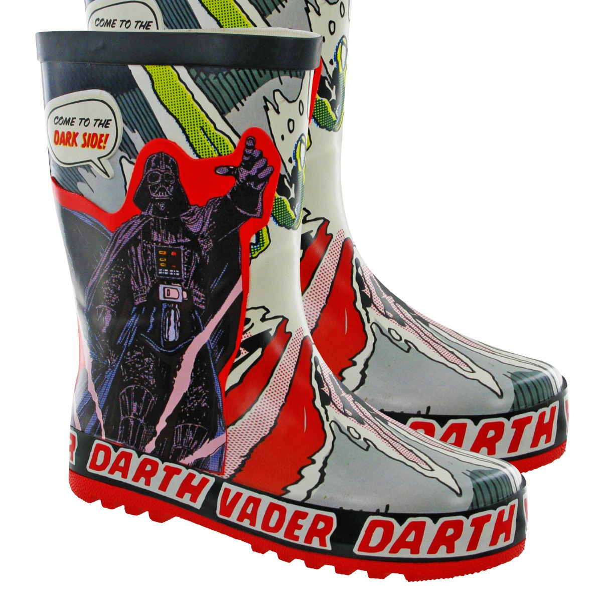 Star Wars Toddler/&youth Boys Rain Boots Black Size 9//10