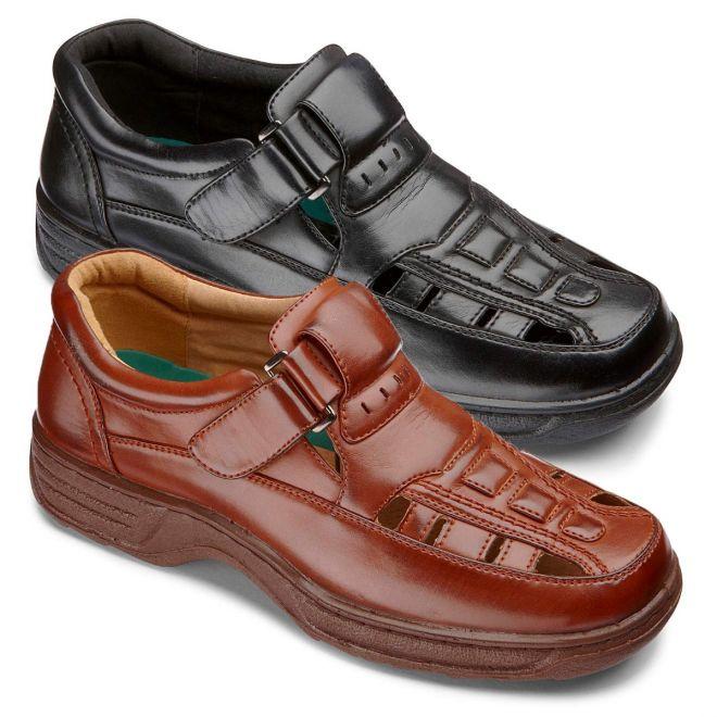 Cushion Walk Sandalised Shoe Wide Fit