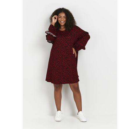 Ex Evans Red Heart Print Tunic Dress