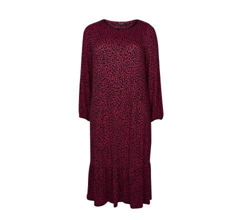 Ex Evans Pink Animal Print Midi Dress