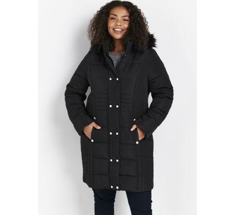Ex Evans Black Padded Coat