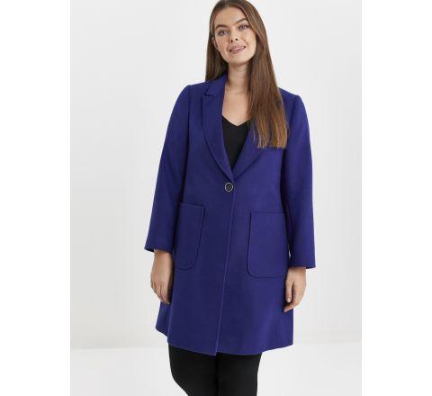 Ex Evans Blue One Button Coat