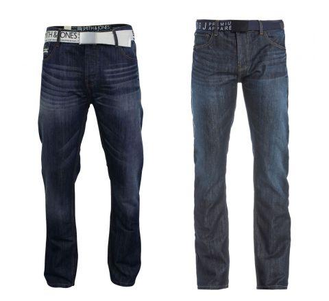 Smith & Jones Men's Furio Straight Fit Jeans - Stone Wash, W28/L30 S