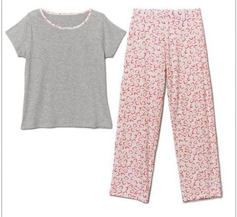 Avon Essentials Heart Print Pyjamas Set