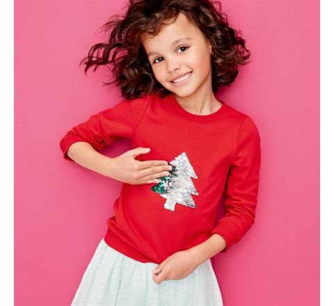 Avon Girls Reversible Sequin Jumper