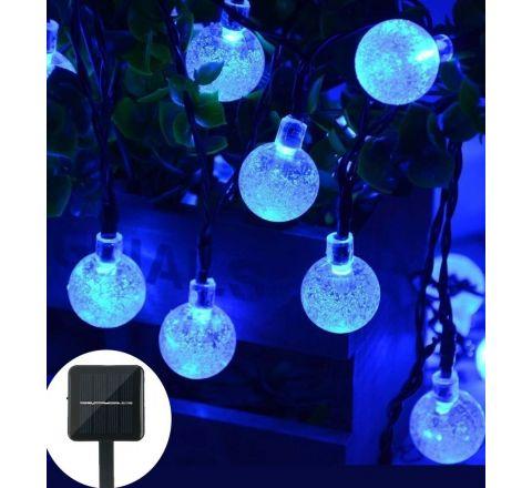 Qedertek 6M Globe Solar String Lights - Blue