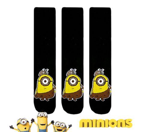 3 Pairs Mens Novelty Minions Caveman Socks
