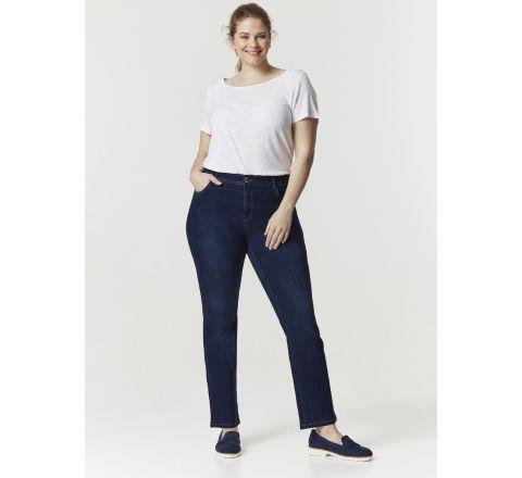Ex Evans Mid Wash Straight Leg Jeans - Short Length