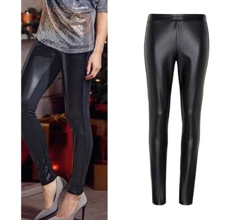 Avon Faux Leather Front Jeggings