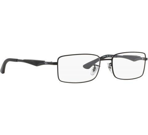 Ray Ban Eyeglasses RX 6284 2503 Matte Black 55-17-140