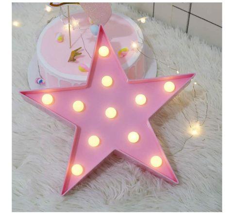 Pink Star Shaped LED Light