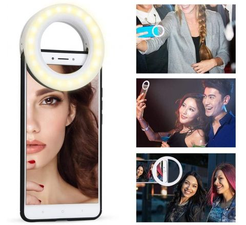XJ-19 Portable Rechargeable 40 LED Camera Selfie Ring Light