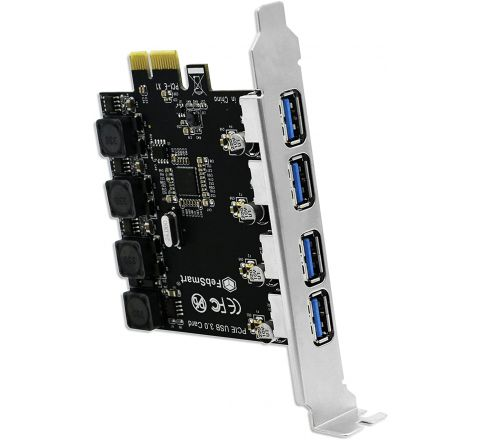 4 Ports USB 3.0 PCI Express (PCIe) Expansion Card - Super Fast 5Gbps