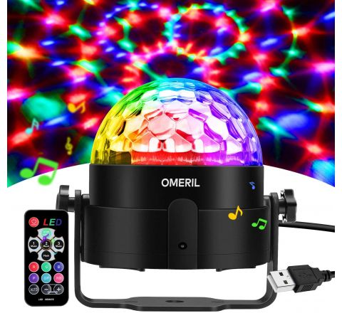 Omeril Disco Light Sound Activated with Remote Control