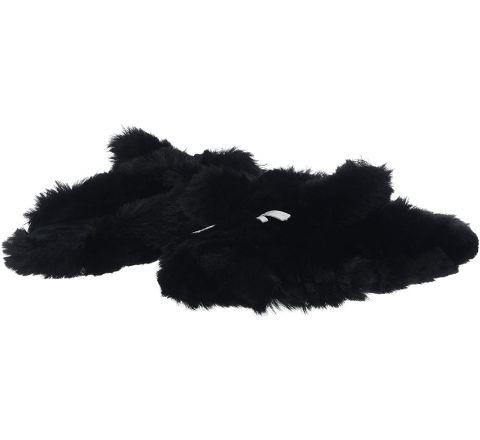 Ex Store Women's Shimmer Cat Mule Open Back Slippers