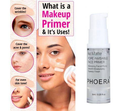 PHOERA 18ml Face Primer Natural Matte Primer - 3 x 6ml