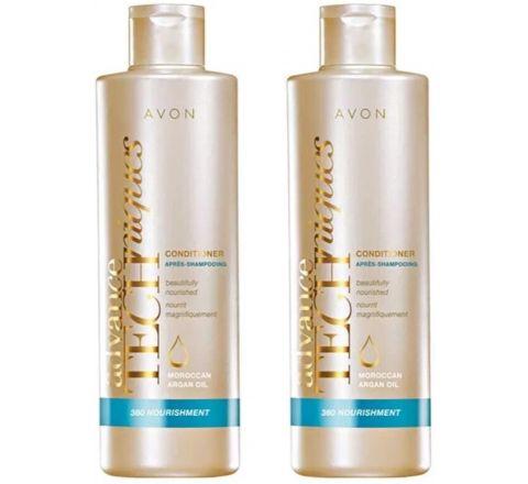 Avon Advanced Techniques 360 Nourishment Moroccan Argan Oil Conditioner - 2x 400ml