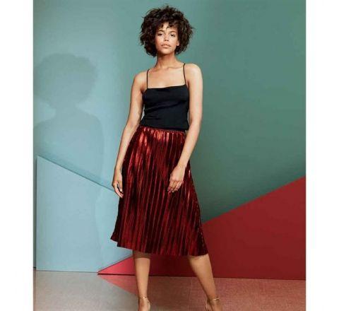 Avon Yuletide Plisse Reversible Skirt