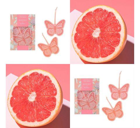 Avon Set of 4 Grapefruit and Pomelo Hanging Fresheners