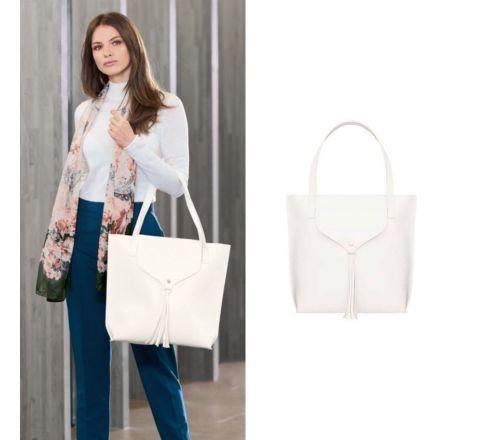 Avon Cardarelli White Tote Bag
