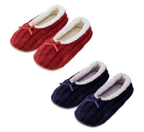 Avon Chenille Ballerina Slipper Socks