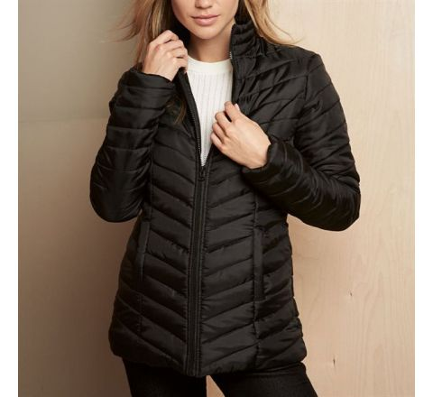 Avon Black Padded Down Jacket