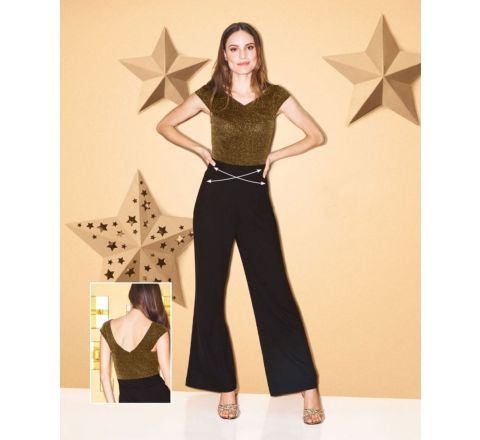 Avon Body Illusions Bardot Glitter Jumpsuit