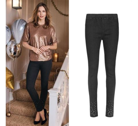 Avon Black Crystal Jeggings