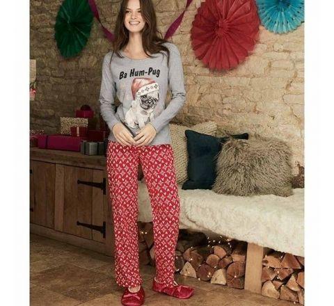 Avon Ba Hum Pug Christmas Pyjamas Set