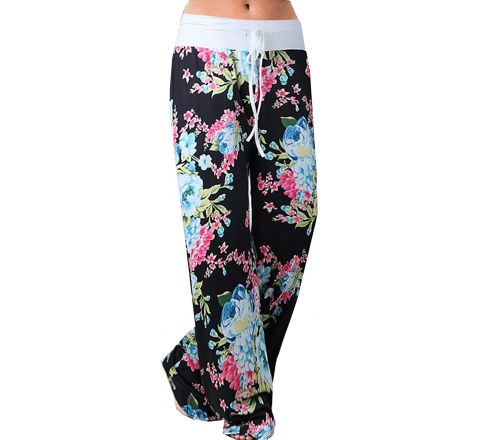 Women's Casual Floral Lounge Yoga Trousers
