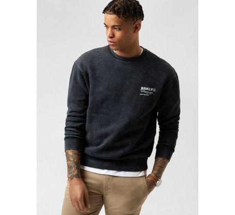 Ex Burton Washed Charcoal Brooklyn Sweatshirt
