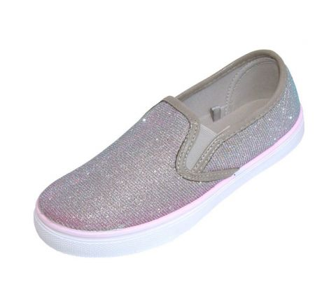 Buckle My Shoe Pewter Slip On Pumps