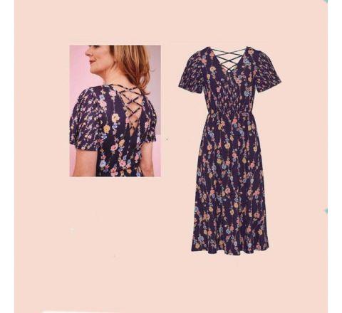 Avon Casting Floral Print Midi Dress