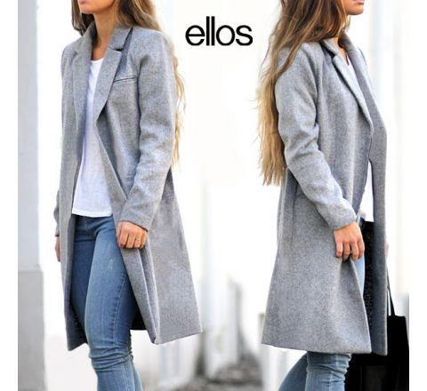 Long Wool Rich Grey Coat