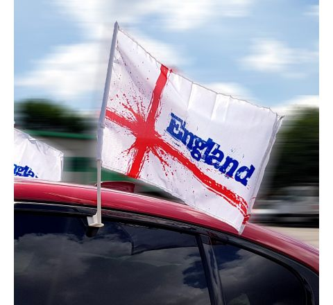 Pack of 4 England Car Flags