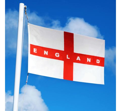 England Flag 5ft x 3ft Wide Text