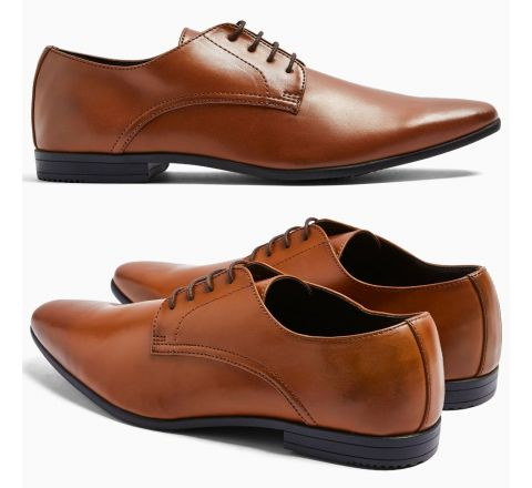 Ex Store Tan Derby Shoes