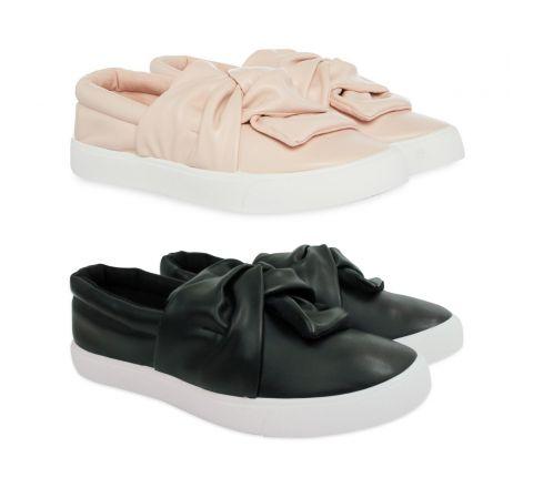 50 x Girls Bow Slip On Shoe