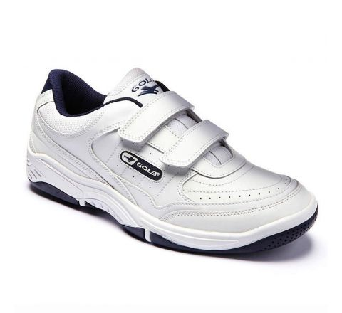 Mens GOLA White Velcro Trainers