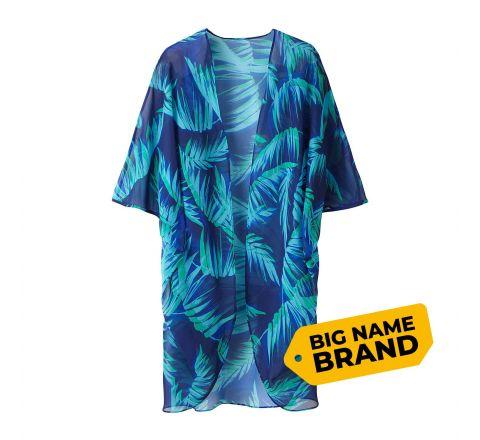 Grazia Tropical Print Cocoon Kimono Cover-up
