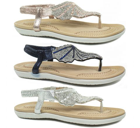 Girls Sequin Embellished Sandals