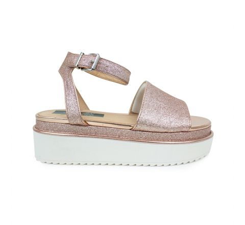 Ex Store Rose Gold Wedge Sandals