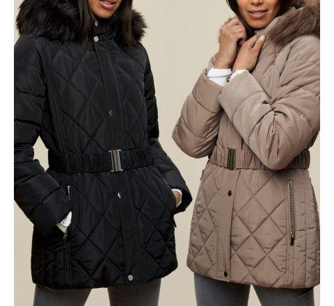 Ex Store Black Short Padded Coat