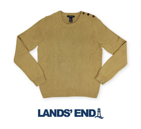 Land's End Camel Cotton Jumper